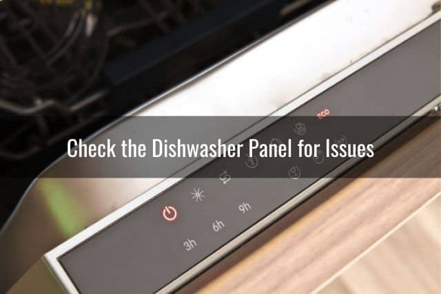 Check the Dishwasher Panel for Issues