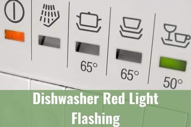 Dishwasher Red Light Flashing