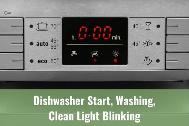 Dishwasher Start, Washing, Clean Light Blinking