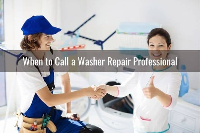 When to Call a Washer Repair Professional