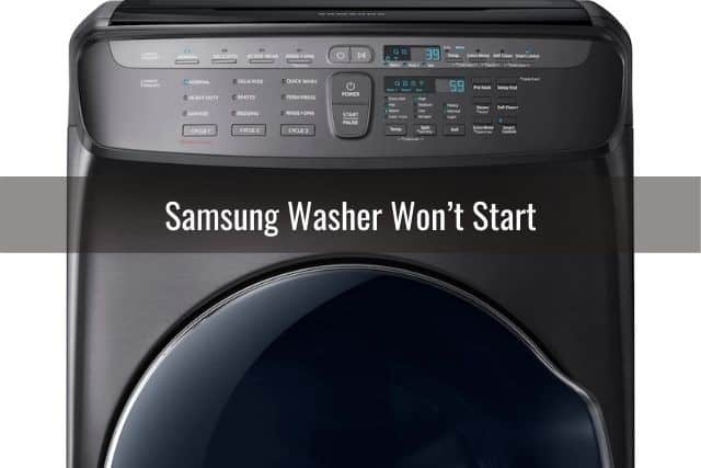 Samsung Washer Won't Start